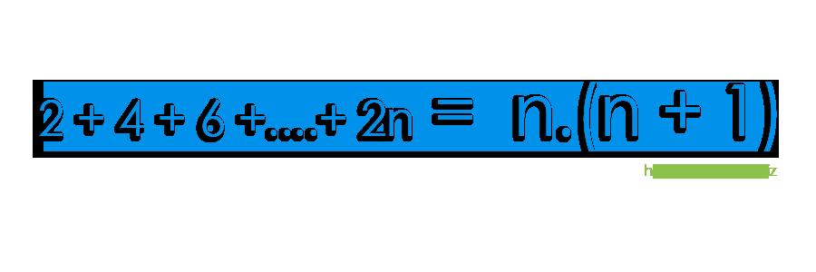 Ardışık Çift Sayılar Formülü