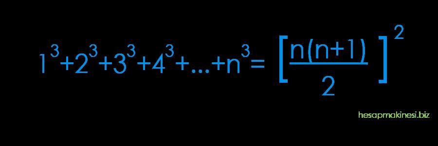 Ardışık tam küp sayılar toplamı formülü