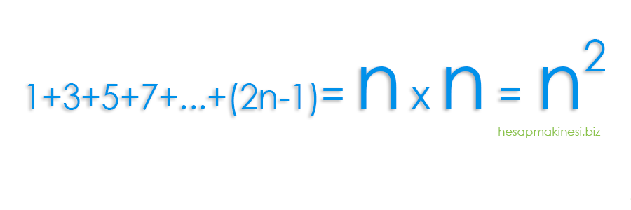 Ardışık Tek Tam Sayılar Toplamı Formülü