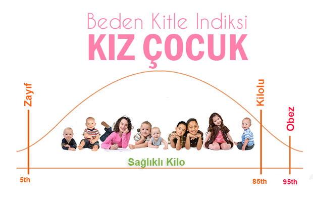 2-5 Yaş Kız Çocuk Beden Kitle İndeksi (BKİ)