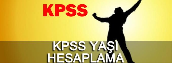 KPSS Yaş Hesaplama Programı