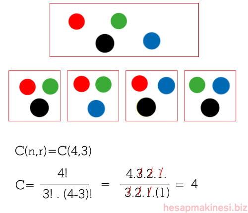 Hesap makinesi kombinasyon hesaplama nasıl yapılır