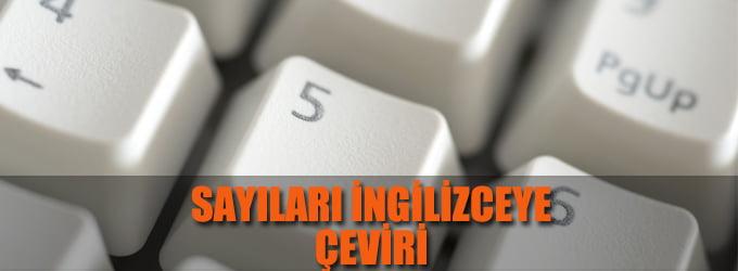 Türkçe İngilizce Sayı Çeviri
